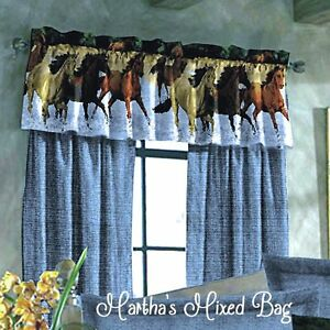 """Western Blue WINDOW Treatment 84""""x 84""""Curtain DRAPERY SET (Valance NOT INCLUDED"""