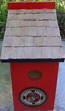 Handcrafted~Wood~Military ~Marines~Birdhouse~Outdoor ~Lawn~Garden~Yard~Decor