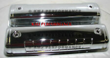 1955-1964 Ford Y-Block V8 Chromed Steel Valve Covers - 272 292 312 OE Style