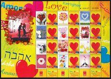 ISRAEL STAMPS 2010 VALENTINE DAY LOVE AMOR SOUVENIR SHEET ONLY