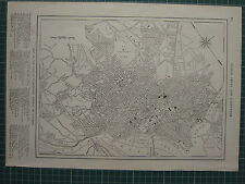 1926 MAP ~ WASHINGTON CITY PLAN DISTRICT OF COLUMBIA GEORGETOWN SUPREME COURT