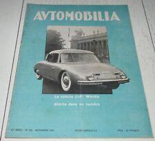 AUTOMOBILIA N°533 1950 VOITURE J.-P. WIMILLE BILAN SALON AUTO P. FISSON GOUX