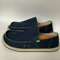 Men's Shoes Sanuk VAGABOND Slip On Canvas Sidewalk Surfers SMF1001 Dark Navy