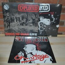 THE EXPLOITED - Ltd COLORED 3LP Live Set Dogs Of War Apocalypse Tour 81 On Stage