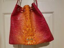 ❤❤ Brahmin Medium Luna Passion Fruit Melbourne Leather Bucket Bag GORGEOUS