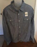 "Lee men's XXL casual button down shirt ""Indigo Blue"" Style:LM18LW703 NWT"