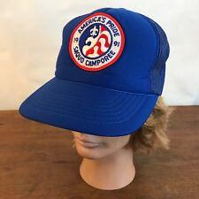 Boy Scout BSA 1991 Americas Pride Saquo Camporee Snapback Trucker Cap Hat CH14