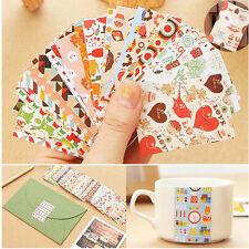 52 Pcs/Box DIY Calendar Photo Paper Sticker Scrapbook Diary Planner Decor Gifts