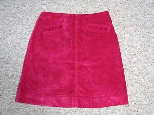 Mistral Ladies Pink Velvet Skirt Size 12 Short A Line Pockets Autumn Winter