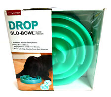 Kyjen Coral Slo-Bowl Slow Feed Dog Bowl Dish Blue XL Plastic One