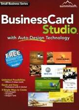 Business Card Studio - Small Business Series Auto-Design Technology PC NEW