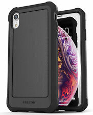 iPhone XR Protective Case Cover Rugged Full Body Cover (Falcon) Black | Encased