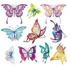 10 butterflys on 1 sheet iron on t shirt transfer A5