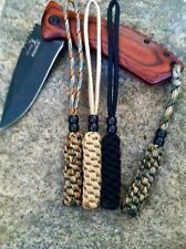 (4) Paracord Knife Lanyards-Fits- Military,Survival,Combat, Knives-Combo