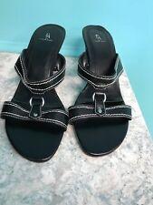 "Etienne Aigner Black Strappy Sandals Size 8 M - New - Halsey - 3"" Heel"