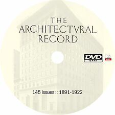 Architectural Record {145 Issues, 1891-1922} Magazine on DVD