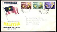 MALAYSIA 1963 SAMPUL SURAT HARU PERTAMA FDC TO NZ (U) *NORTH BORNEO*