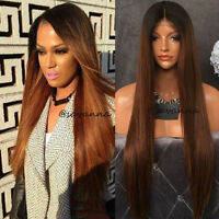 Virgin Brazilian Ombre Full Lace Human Hair Wig Long Straight Lace Front Wigs