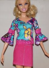 Barbie Floral Top Skirt Lot Fashionista Model Fashion Fever Royalty My Scene Liv