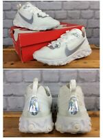 NIKE LADIES UK 6 EU 40 REACT ELEMENT 55 WHITE IRIDESCENT TRAINERS RRP £115 LG