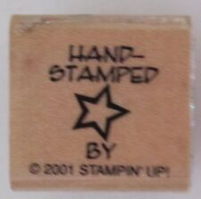 Stampin Up 2001 Star Hand Stamped Hand-Stamped Wood Mounted Single Stamp Used