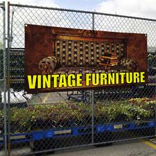 Vinyl Banner Sign Vintage Furniture Vintage Outdoor Marketing Advertising White