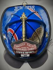 AMAZING CHICAGO CUBS WORLD SERIES FIRE HELMET!!! SHIELD AND FLIPS INCLUDED!!