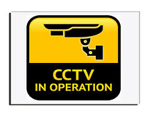 CCTV IN OPERATION WARNING SIGN - GATE - FENCE - DOOR SIGN  FREE UK DELIVERY