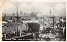 BR62365 buenos aires vista del puerto ship bateaux real photo argentina