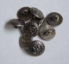 Pack 10 Dark Silver Pheonix Shield 13mm Loop/Shank Button   0049