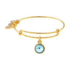 Alex And Ani March Birthstone Gold Expandable Bangle A09EB242G