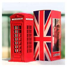 BRITISH RED TELEPHONE LONDON MONEYBOX COIN BOX DIECAST METAL PIGGY BANKS - UK