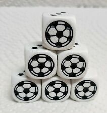 Koplow's Soccer Dice - 18mm OP White w/Black *Pips* on sides 2-6>>Soccer Ball #1