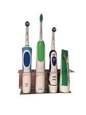 Halterung für elektrische Zahnbürsten aus Edelstahl mit 4 Plätzen KEIN BOHREN