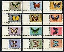 PAPUA NEW GUINEA - 1966 'BUTTERFLIES' Set of 12 MNH SG82-92 [A7735]
