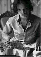 JOHNNY DEPP ~ PLAYING STEEL GUITAR 24x36 MOVIE POSTER NEW/ROLLED!