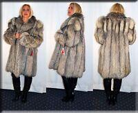 New Platina Fox Fur Coat Size Extra Large XL 14 16 Efurs4less