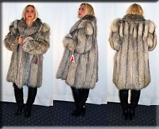 New Platina Fox Fur Coat Size Extra Large XL 14 16 Efurs4less