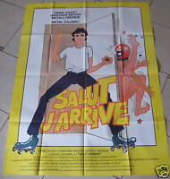 AFFICHE DE CINÉMA 160 x 120 cm - SALUT J'ARRIVE - ANNÉE 1982
