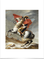 JACQUES LOUIS DAVID NAPOLEON CROSSING THE ALPS LIMITED EDITION ART PRINT 18X24