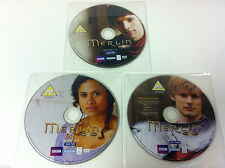 Merlin Series Two 2 Volume 1 BBC DVD R2 PAL - 3 Disc Set - DISCS ONLY