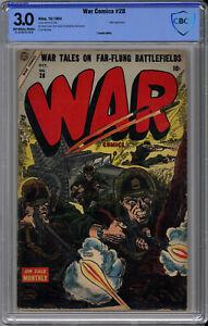 WAR COMICS #28 CBCS 3.0 - EXTREMELY RARE ATLAS WAR - ONLY 1 on CGC - 1954