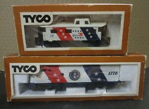 """TYCO HO """"SPIRIT OF '76"""" F-9 POWER PASS. DIESEL & CABOOSE IN BOXES - RUNS GREAT"""