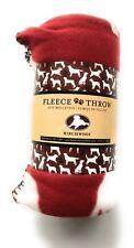 Blue Paws Fleece Throw Dog Blanket 50 x 60 By Birchwood
