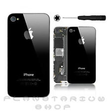 NEW Black Glass Replacement Back for Apple iPhone 4S Rear Battery Cover + Screw