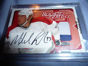 03-04 BAP Ultimate Memorabilia Michael Ryder RC 19/20 AUTO 2CLR NUMBER PATCH Wow