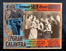 """LUIS BUNUEL """"EL GRAN CALAVERA"""" FERNANDO SOLER N MINT MEXICAN LOBBY CARD 1949"""
