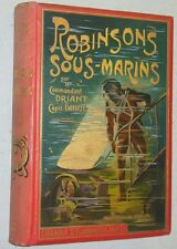 Cartonnage polychrome ROBINSONS SOUS-MARINS Capitaine Danrit ill Dutriac 1907 EO