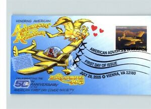 DAVE BENNETT Catchetoon, Advances in Aviation, Ercoupe 415 airplane stamp, First
