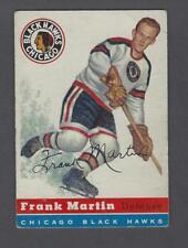 1954-55 Topps Chicago Blackhawks Hockey Card #30 Frank Martin
